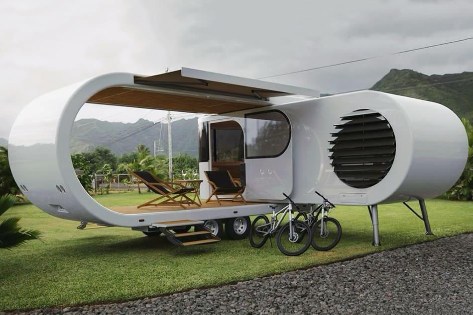 Romotow – der futuristische, aufklappbare Wohnwagen für mehr Lebensraum und Qualität