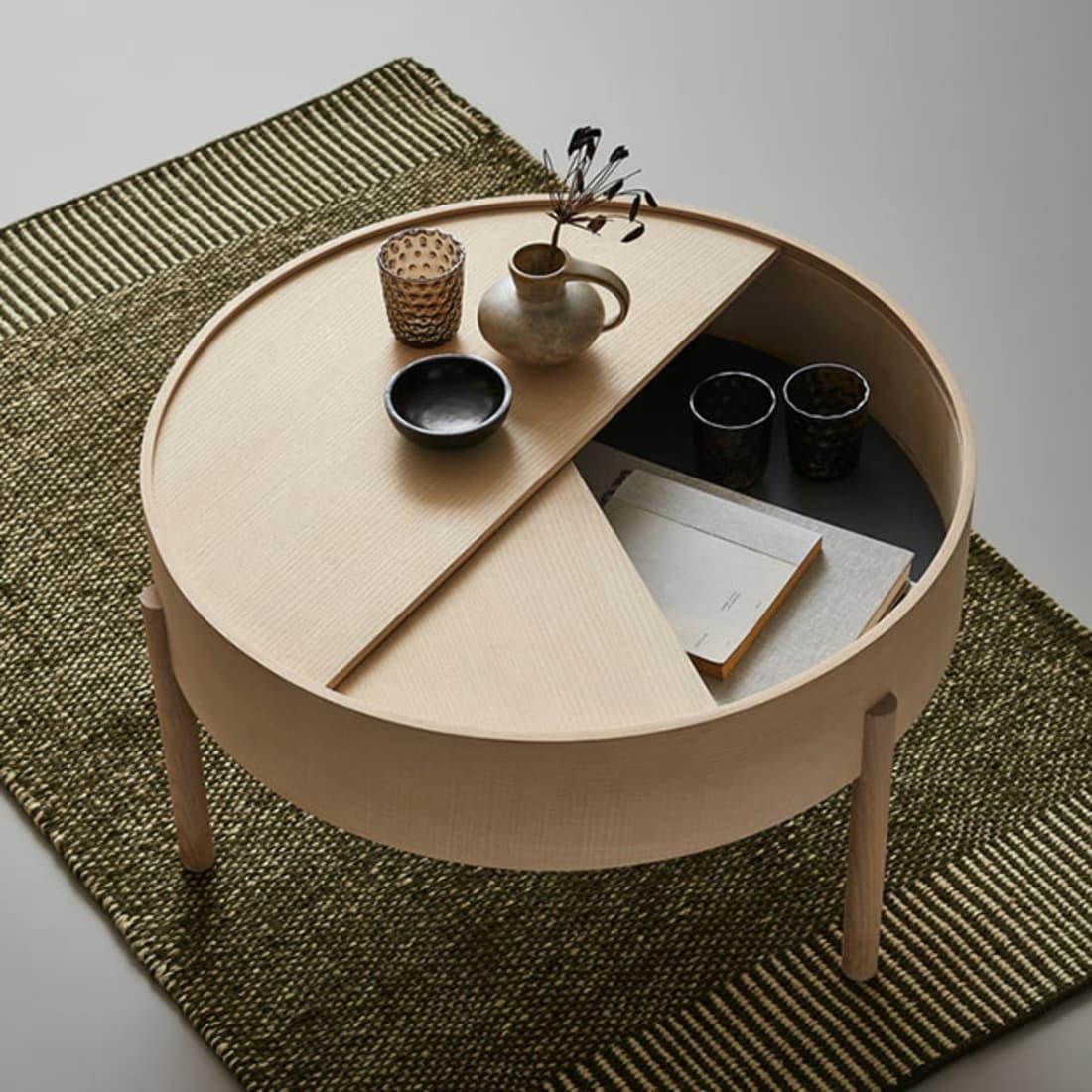 Arc Beistelltisch von Woud die Tischserie mit Stauraum