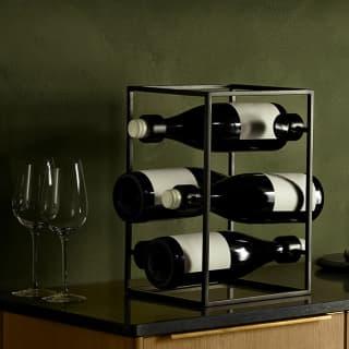 Eva Solo Weinwürfel für 6 Flaschen - elegantes Weinregal aus der Nordic Kitchen Serie