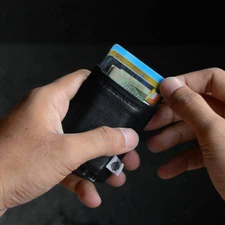 Space Wallet kleine Geldbörse aus Leder