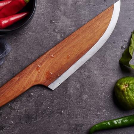 Lignum Messer Skid ein Messer aus Holz