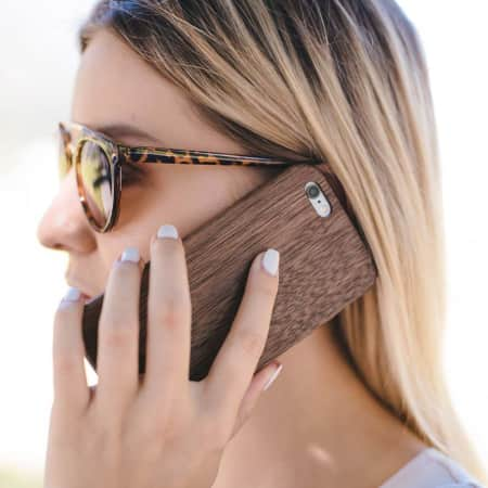 Glitty iPhone Hüllen aus Holz