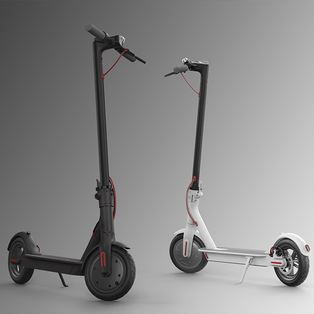 Der faltbare XIAOMI MI E-Scooter,  M365