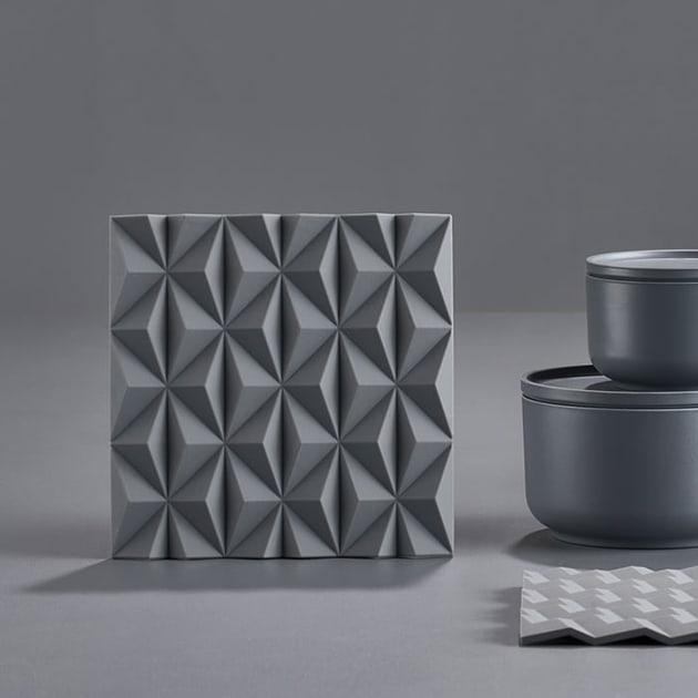 Origami Untersetzer mit 3D-Effekten von Zone Denmark