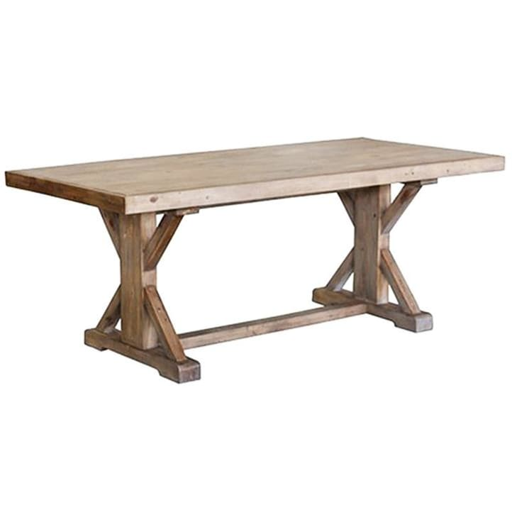 Ballarat reclaimed pine timber 193cm cross leg dining table only picture of ballarat reclaimed pine timber 193cm cross leg dining table watchthetrailerfo