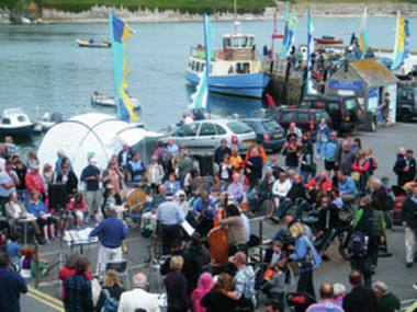 Blog Thumbnail - Fal river festival - jazz on the quay in St Mawes