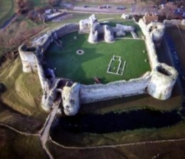 Pevensey Castle - Nr Eastbourne East Sussex click to go to site.
