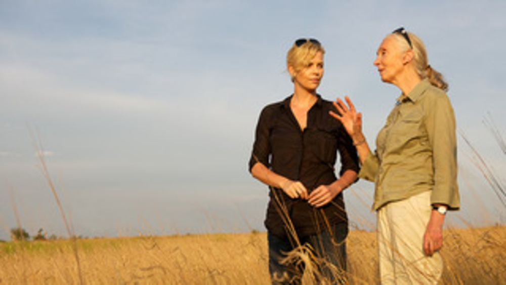 1. Charlize Theron and Jane Goodall