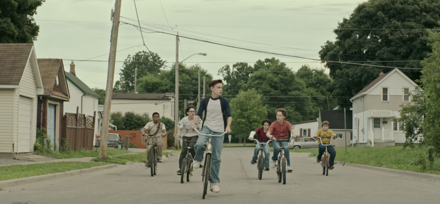 The Losers Club on bikes in IT