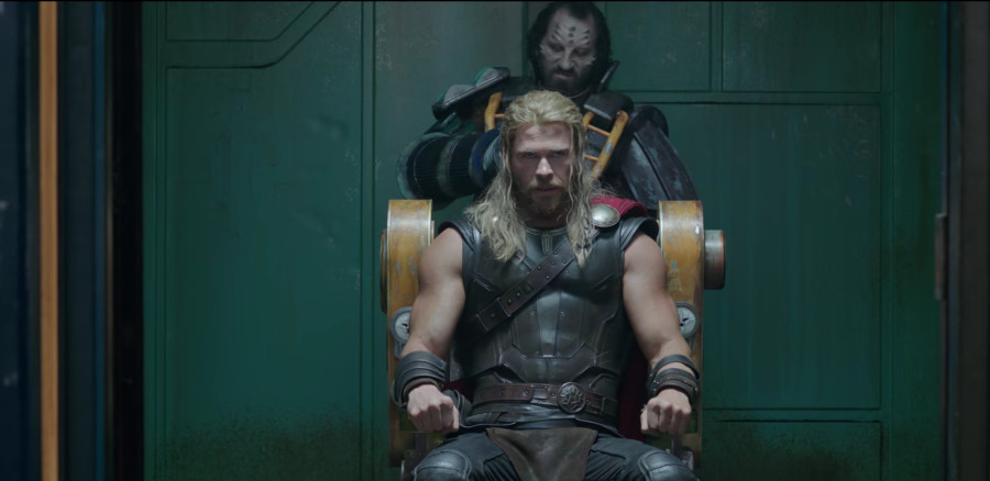 Thor is about to get his haircut in Thor Ragnarok