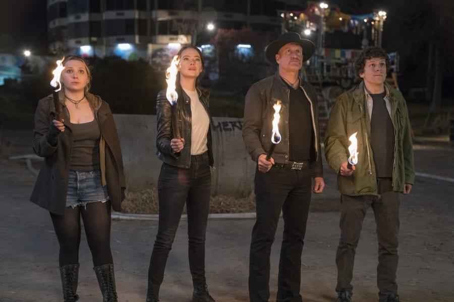 Zombieland stars Woody Harrelson, Emma Stone, Jesse Eisenberg and Abigail Breslin