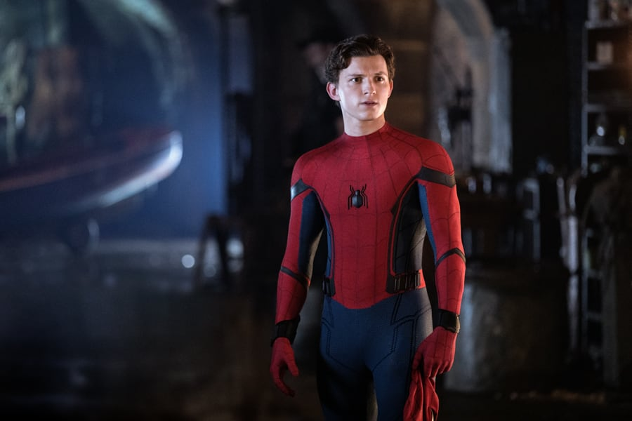 Spider-Man Without His Mask On in Spider-Man Far From Home