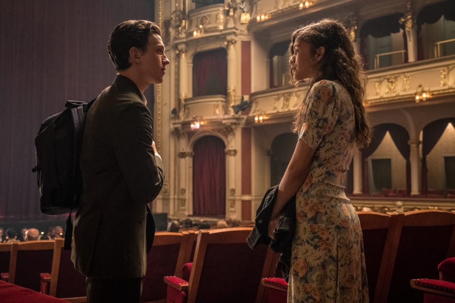 Peter Parker and MJ in Spider-Man Far From Home