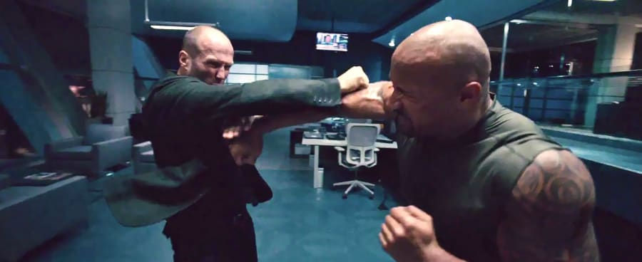 Hobbs fighting Shaw in Furious 7