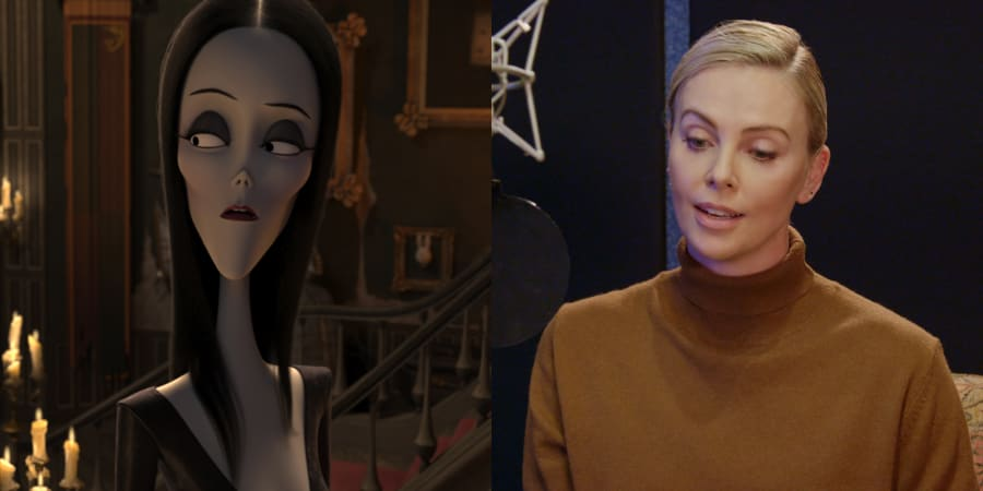Charlize Theron as Morticia Addams