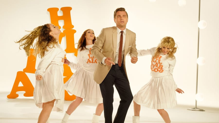 Leonardo DiCaprio as Rick Dalton dancing in Once Upon A Time In Hollywood