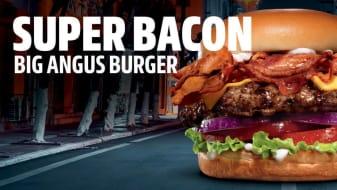 Súper Bacon Big Angus Burger.