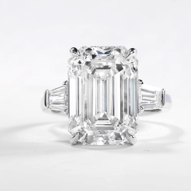 Large Emerald Diamond Ring