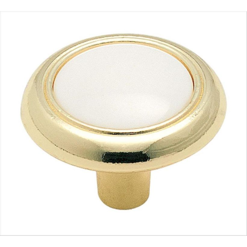 "Allison™ Value 1-1/4"" (32 mm) Diameter Knob - White Center"