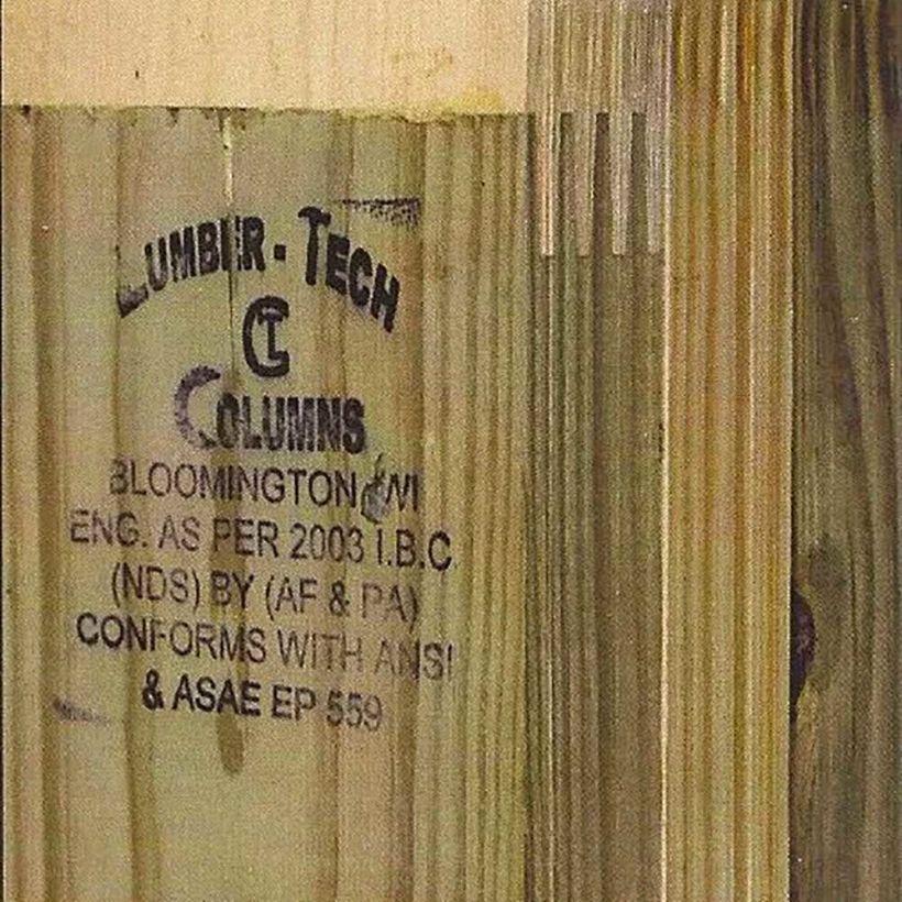 #1 Southern Yellow Pine 3 Ply Kiln DriedAT Laminated Column TB CN