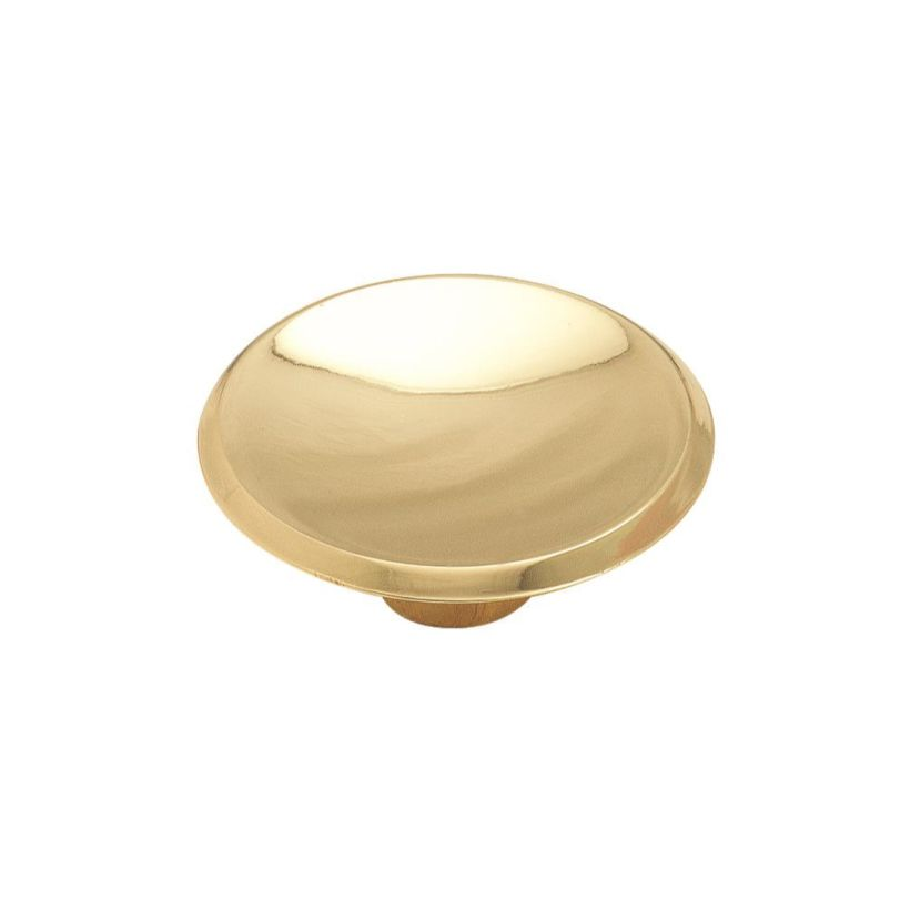 """Allison™ Value 1-3/4"""" (44mm) Diameter Knob - Polished Brass"""