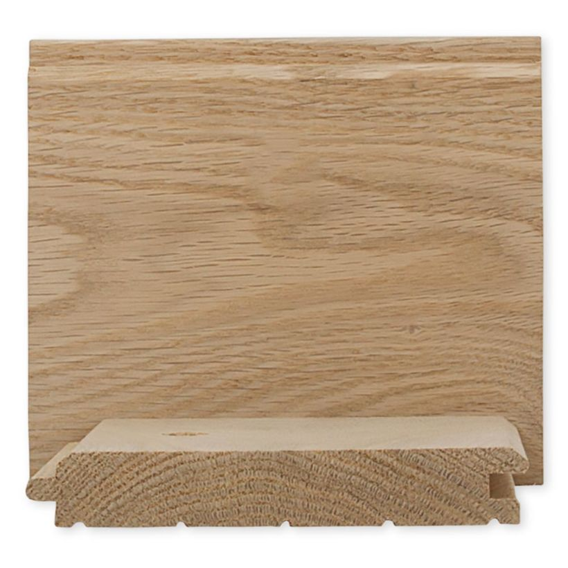 1 x 6 Red Oak WP4 Paneling - Sound Tight Knot Grade