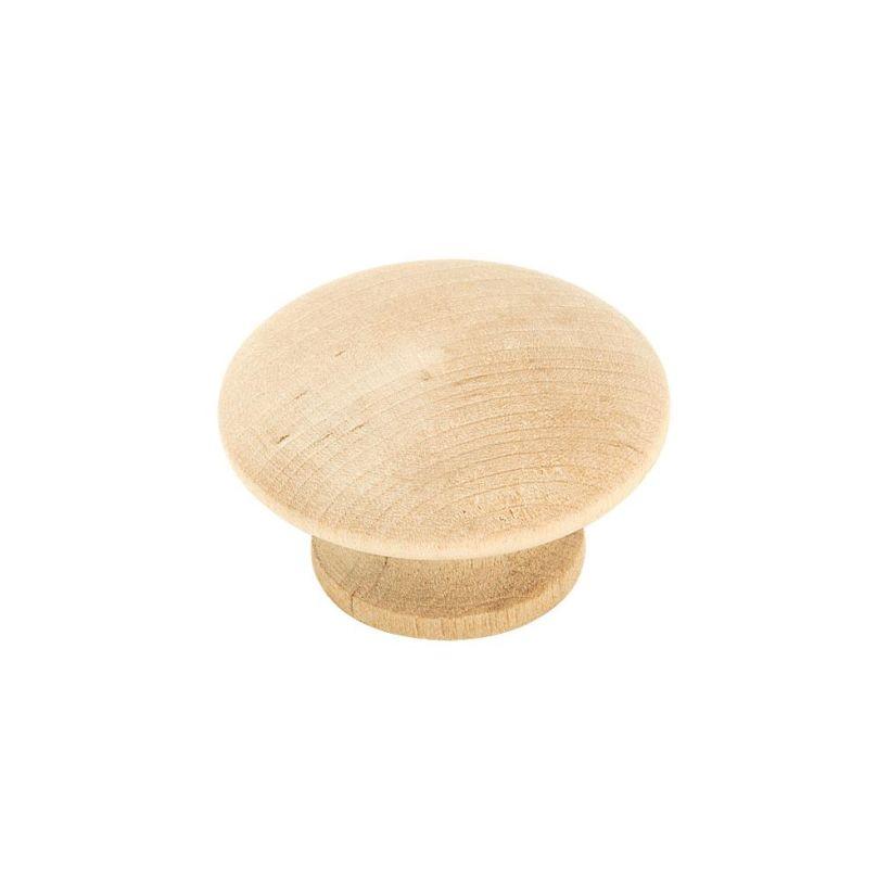 "Allison™ Value 1-1/2"" (38mm) Diameter Wood Knob - 7/8"" Projection"