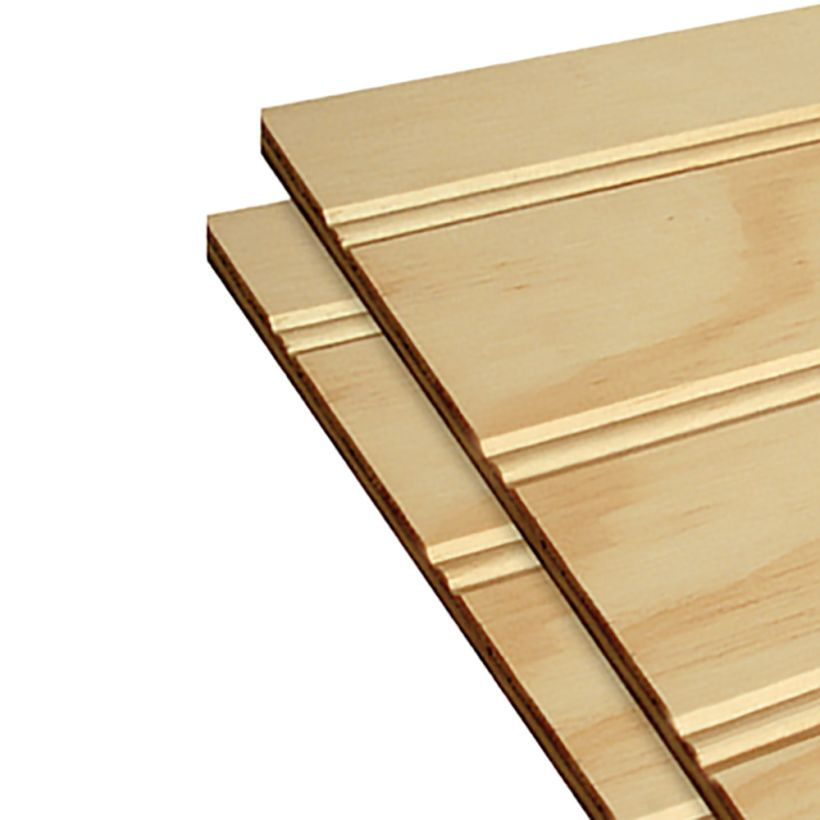 AraucoPly Beaded Shiplap Edge Panels 2 inch On-center 4x8