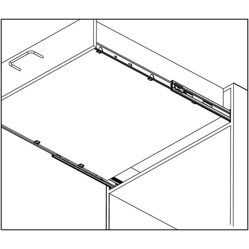 Accuride 3864 90 lb Box Drawer Slide with Mounting Tab