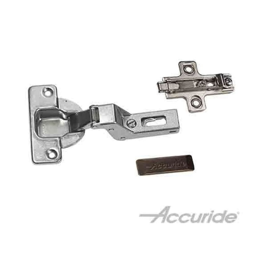 Accuride 40 mm Clip-On Hinge Kit, For 3/4 to 13/16 in Thick 123 and 1234 Series Overlay Pocket and Flipper Door