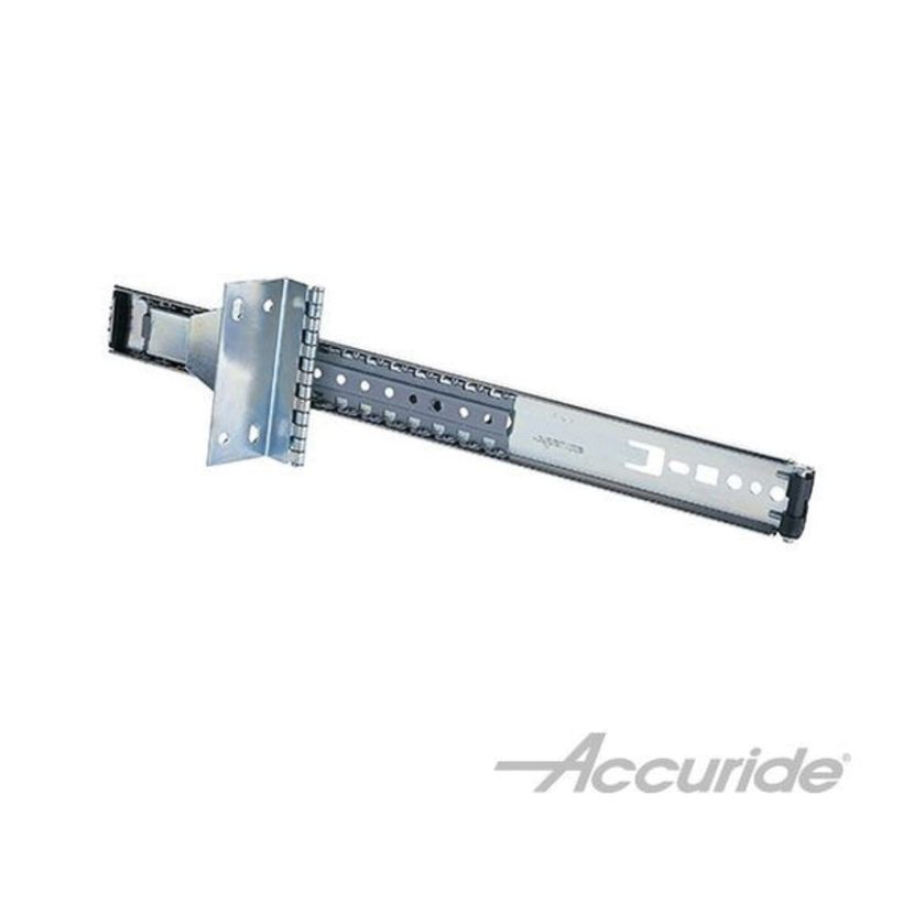 Accuride 30 lb Light-Duty Over-the-Top Flipper Door Slide, 10 in, Clear Zinc