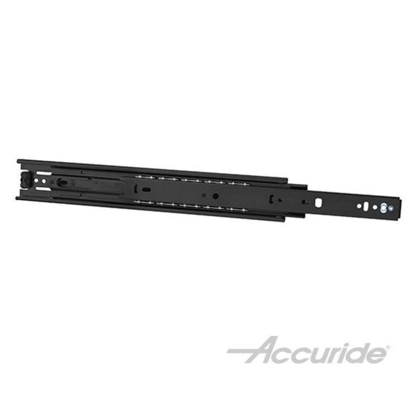 Accuride 3832E 100 lb Light-Duty Full Extension Slide - Black Zinc