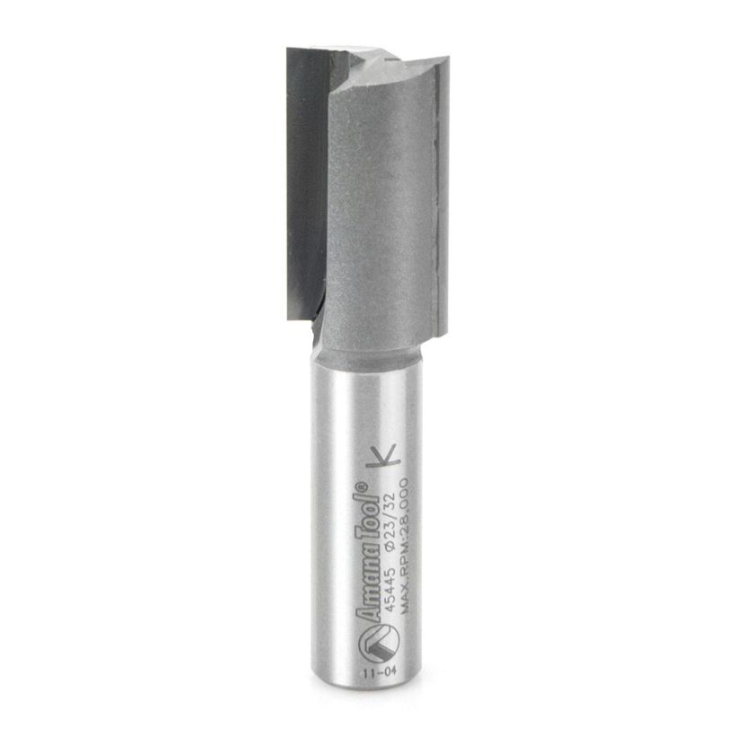 Amana Tool 1/2 in Shank 2 Flute Carbide Undersized Plywood Dado Router Bit, 23/32 in x 2-7/8 in