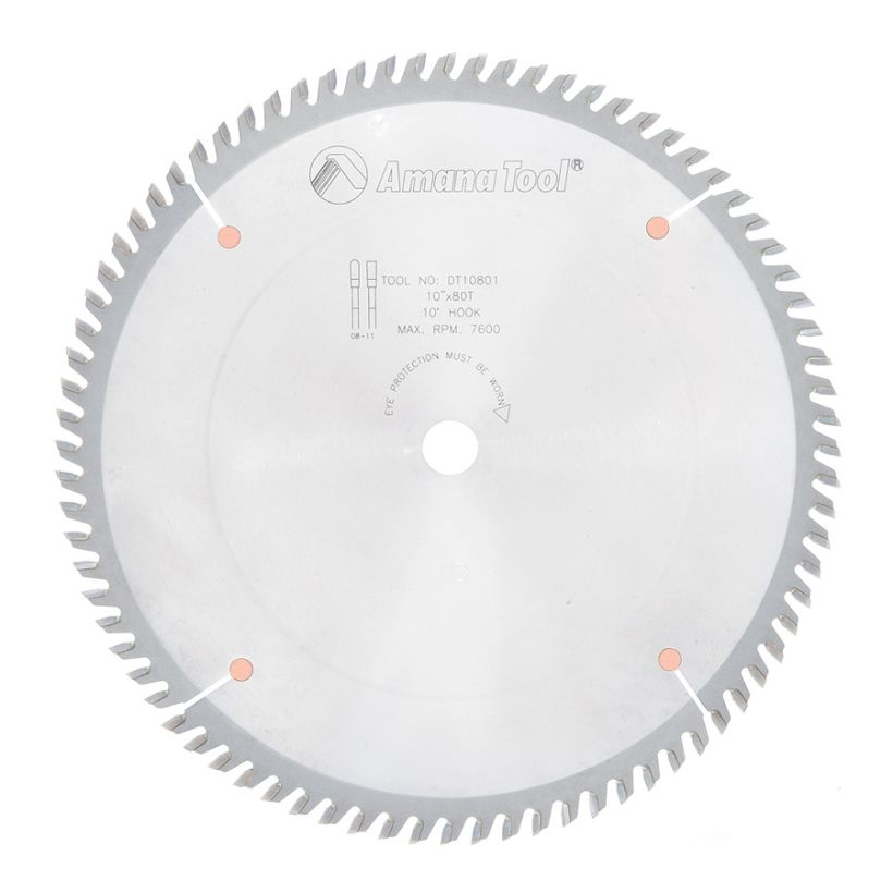 Amana Tool Cut-Off and Crosscut Circular Saw Blade, 10 in x 80T TCG