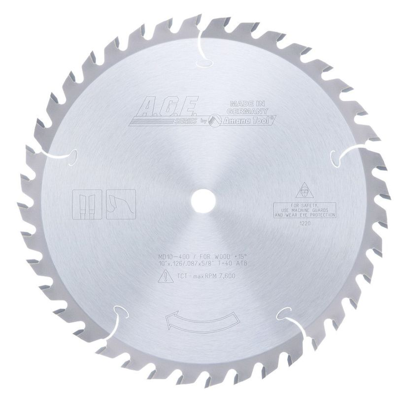 Amana Tool A.G.E. Saw Blades General Purpose Circular Saw Blade, 10 in