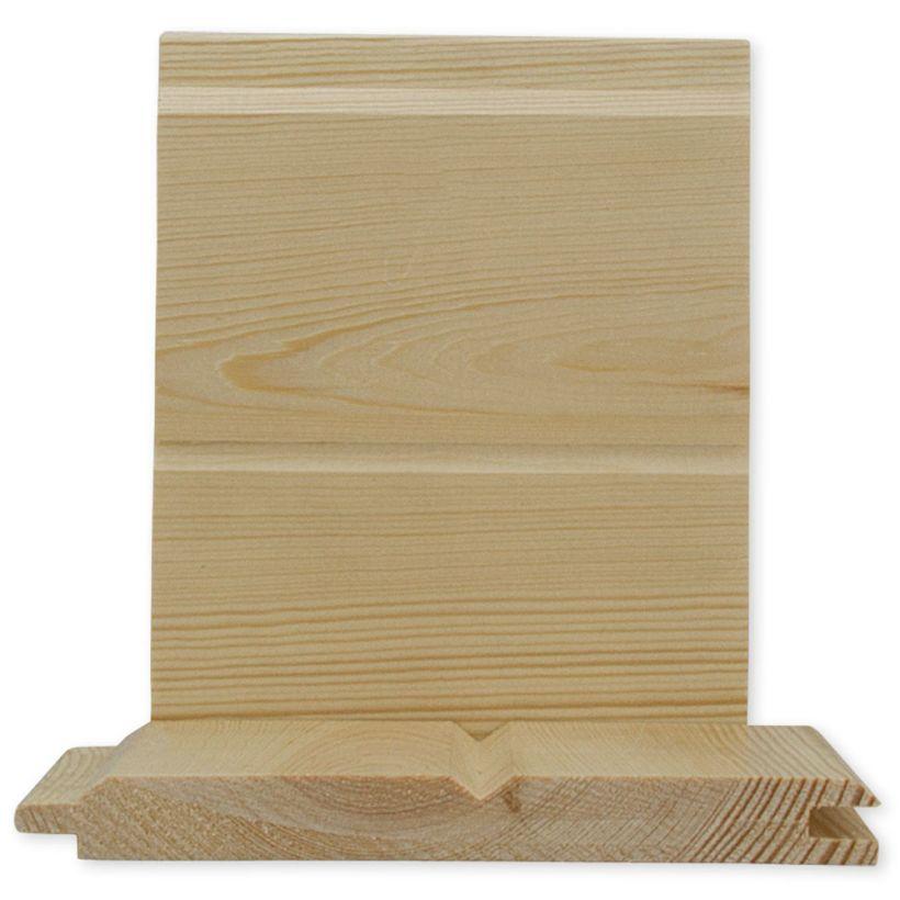 #2& Better Ponderosa Pine Car Siding Pattern 116 - 1 x 8 Clear Coat