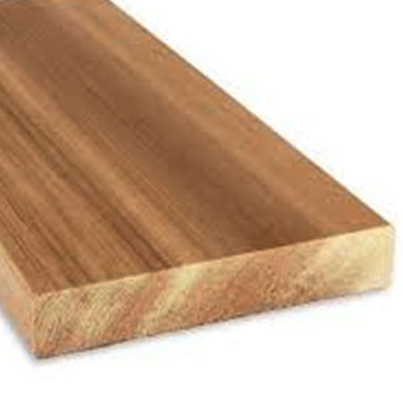 5/4 x 8 Clear Western Red Cedar Boards - Random Lengths