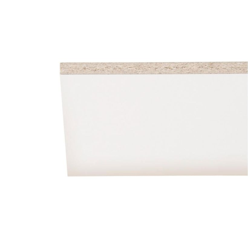 MelaGard White Melamine Square Edge Shelving - 97 Inches