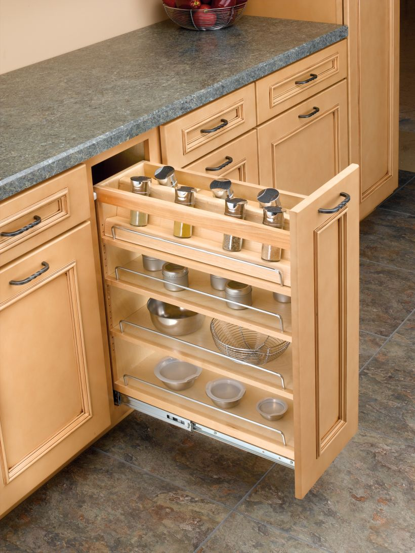 448 Series Drop-In Spice Rack for Base Cabinet Pull-Out - Soft Close