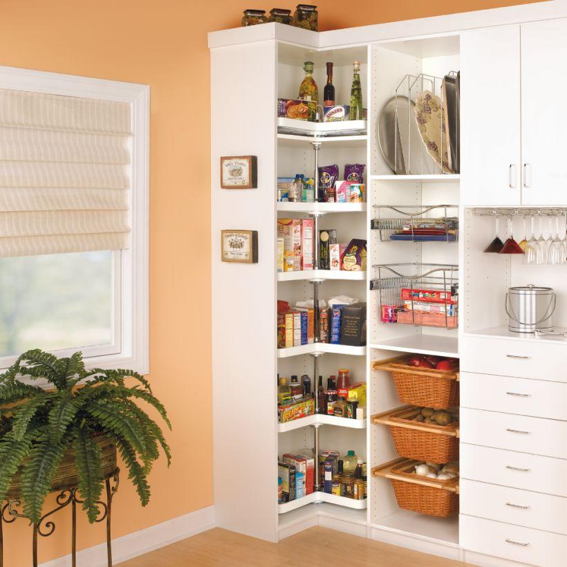 6465 Series Kidney Shaped Pantry Cabinet Lazy Susan Shelf Set