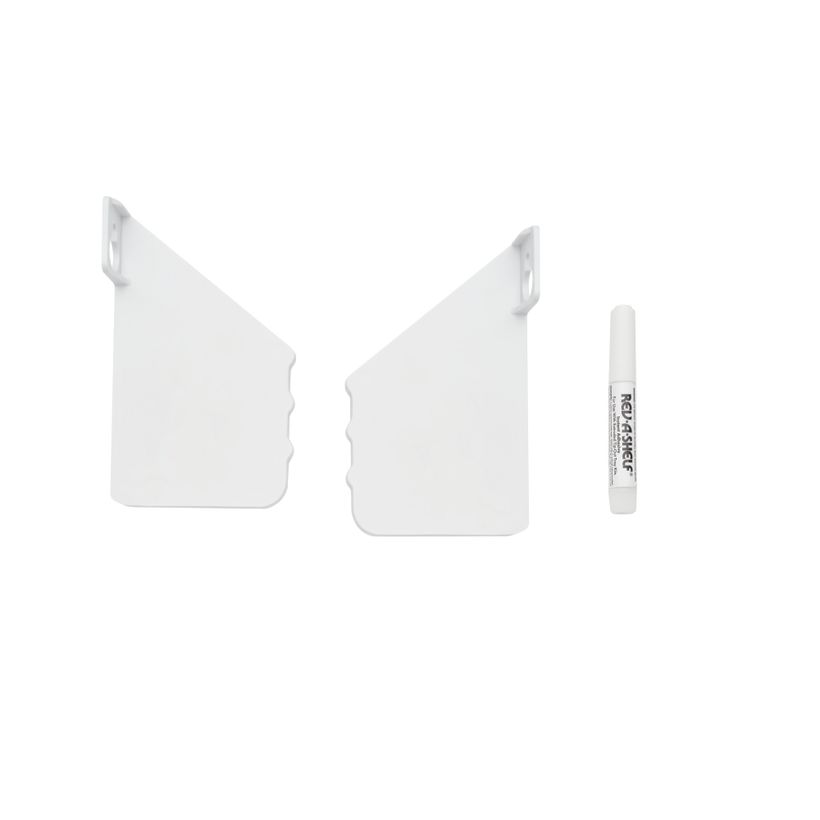 6540 Series Polymer Slim Sink Front Tip-Out Tray Hinges, End Caps and Adhesive