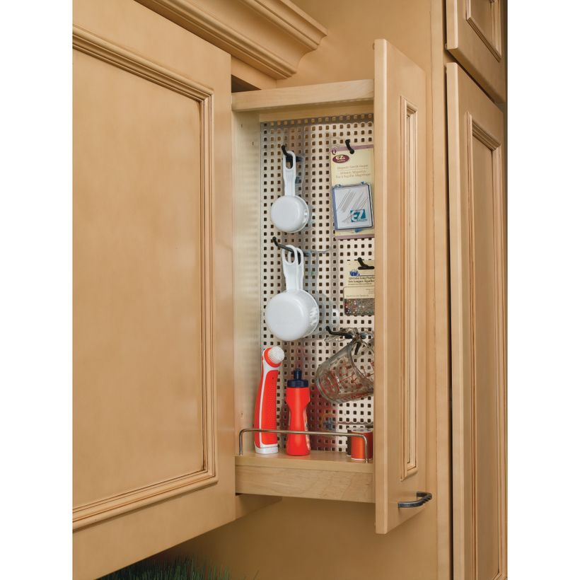 444 Series Pull-Out Wall Cabinet Organizer with Stainless Panel