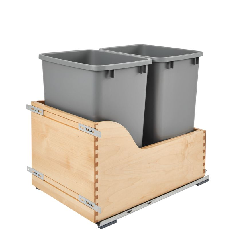 4WCSC Series Soft-Close Bottom Mount Double 35 Quart Waste Container