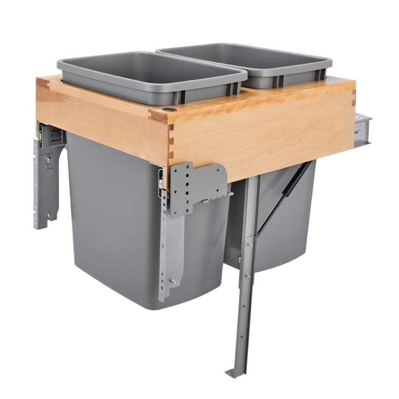 4WCTMRM Series Wood Waste Container with Rev-A-Motion® Soft-Close