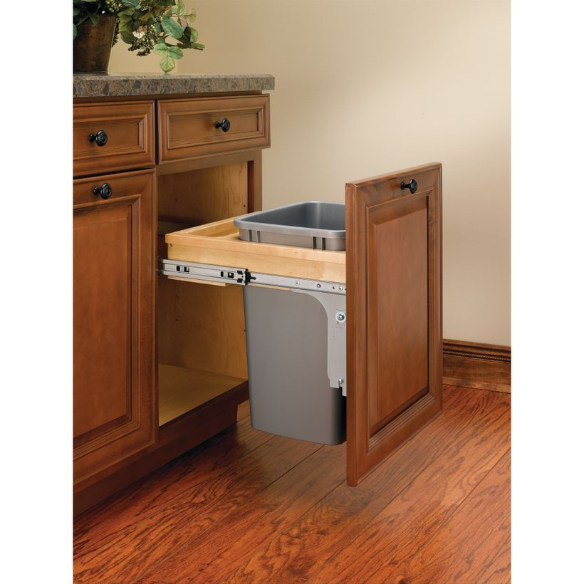 """4WCTM Series Top Mount 1-1/2"""" Face Frame Reduced Depth Wood Waste Container"""