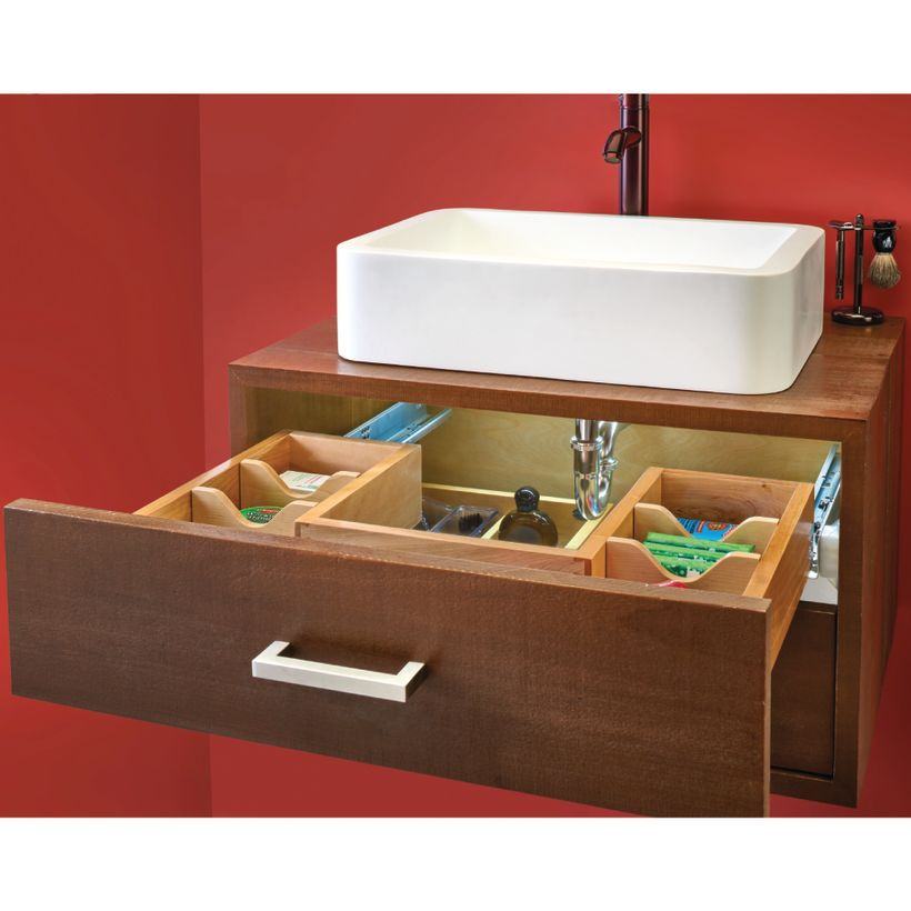 486 Series Side Mount Maple U-Shaped Vanity Pull-Out with Blumotion Soft-Close