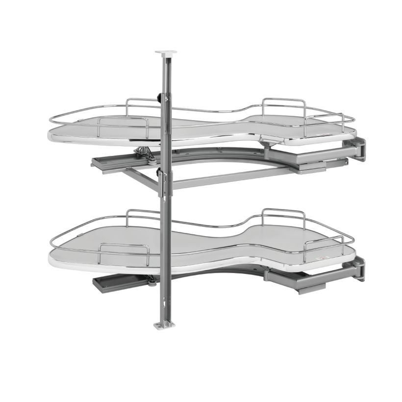 """5370 Series """"The Cloud"""" Two-Tier Blind Corner Cabinet Organizer"""