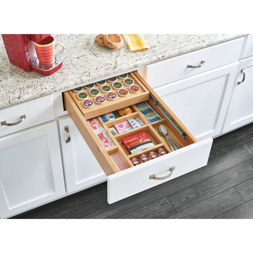 4WTCD Series K-Cup Two-Tiered Wood Drawer