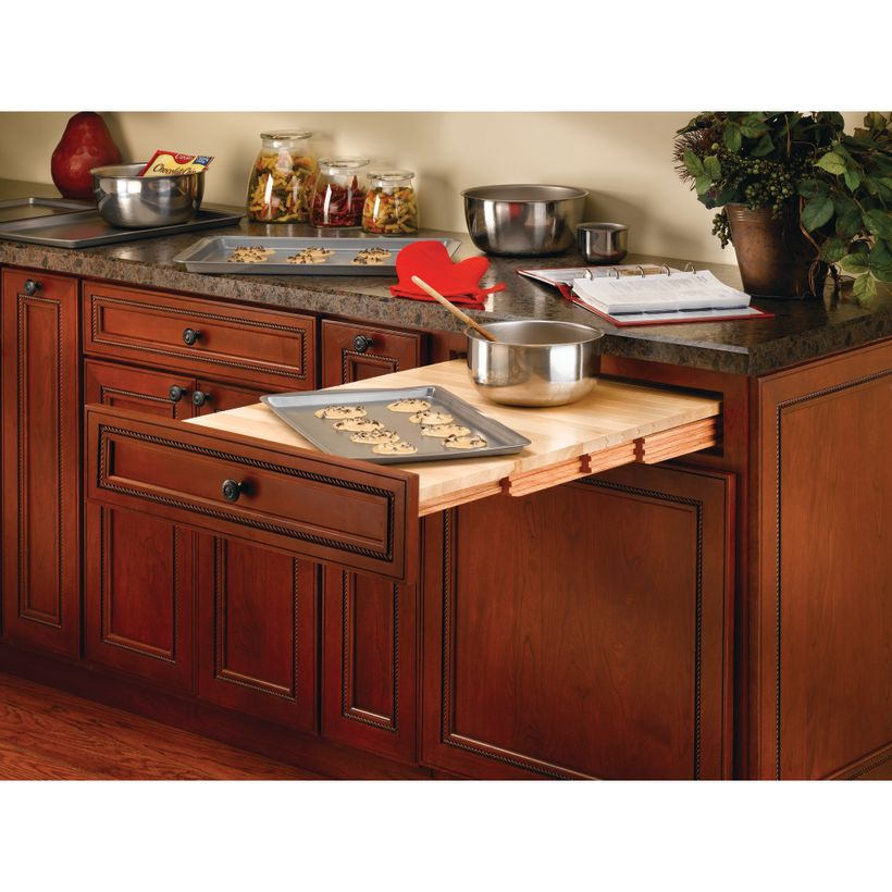 4TT Series Pull-Out Wood Tambour Table to Replace Existing Drawers