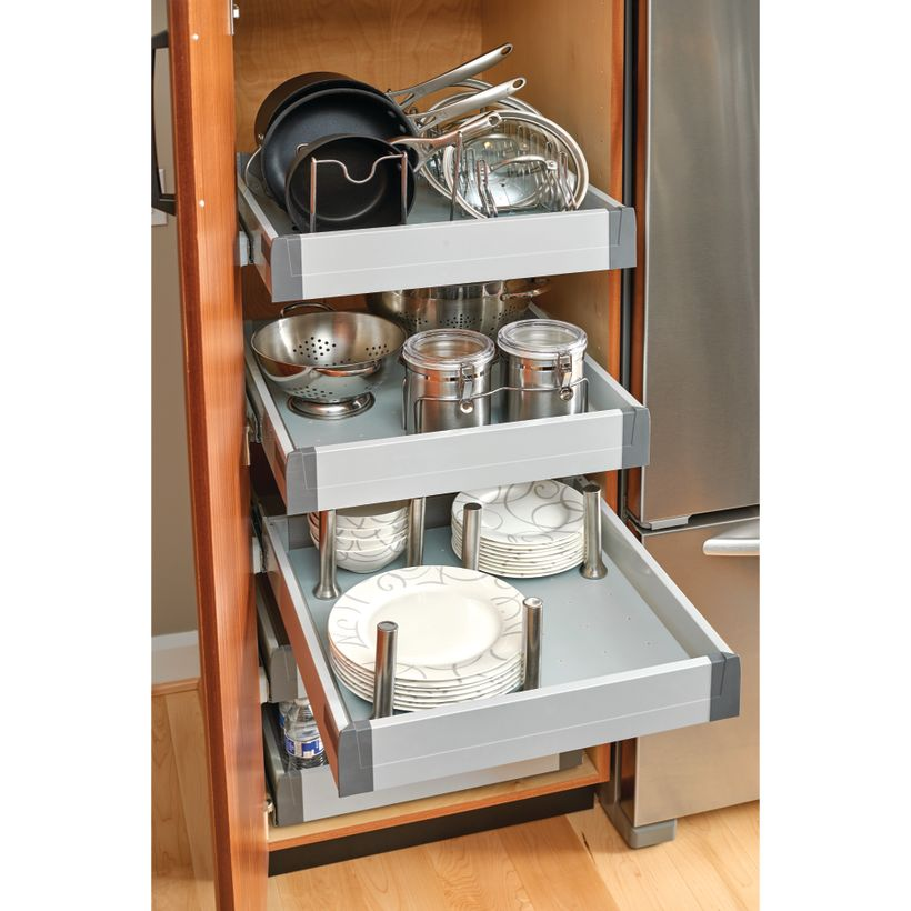 4DPBG Series Drawer System Peg Board with Grey Lining